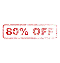 80 percent off rubber stamp vector