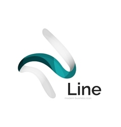 Modern ribbon logo vector