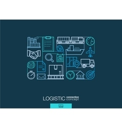 Logistic integrated thin line symbols modern vector