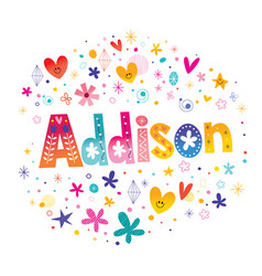 Addison girls name vector