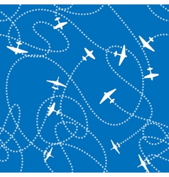Airplanes background vector image vector image