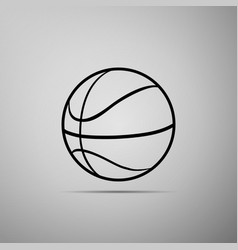 basketball ball icon sport symbol vector image