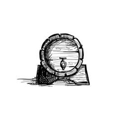 beer barrel oktoberfest festival holiday vector image vector image