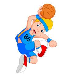 boy basketball player vector image