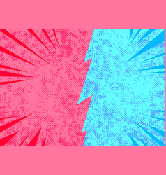 bright pop art comic style opposite sides vector image vector image
