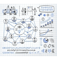 Business doodle se vector image