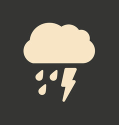 flat in black and white mobile application rain vector image vector image
