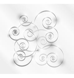 gray spirals vector image
