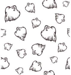 Helloween ghost pattern vector