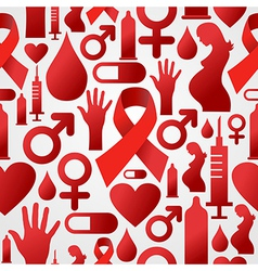 Hiv icon set pattern background vector