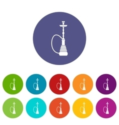 Hookah set icons vector image