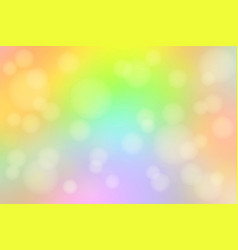 Light rainbow abstract with bokeh lights blurred vector