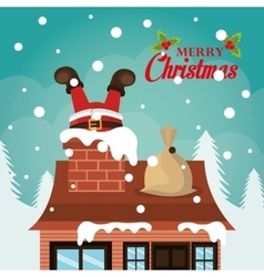 Merry christmas and happy new year card design vector