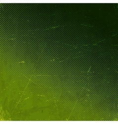 Old green scratched card with halftone gradient vector