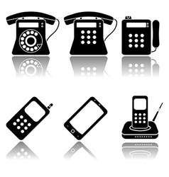 Phones icon set vector image