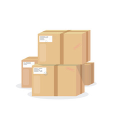 Pile of boxes vector