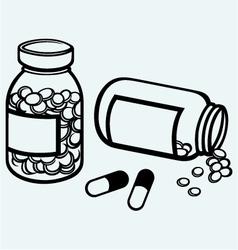 Pill bottle vector image