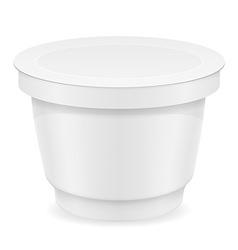 Plastic container of yogurt or ice cream 04 vector