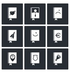 Specialized face book icon collection vector