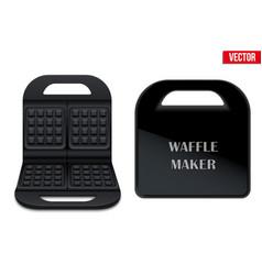 Waffle maker machine vector