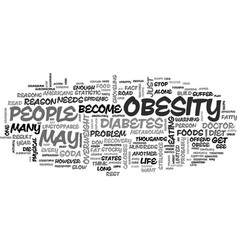 what you should do to cure obesity text word vector image vector image