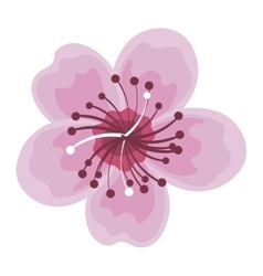 lotus flower japanese icon vector image