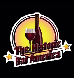 The historic bar america vector