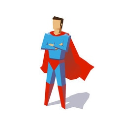 Super hero minimalist design vector