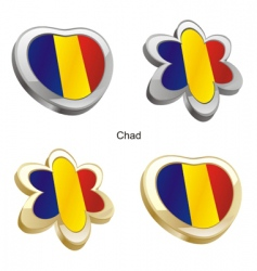 Flag of chad vector