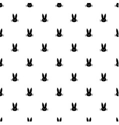 Pattern with rabbit heads vector