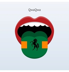 Qwaqwa language abstract human tongue vector