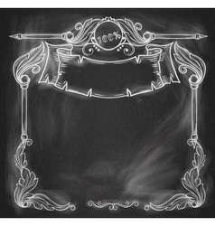 Vintage bannerbackground chalkboard vector