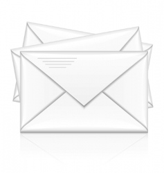 group of white postal envelope vector image