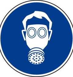 Respirator must be worn safety sign vector