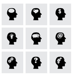 Thoughts icon set vector