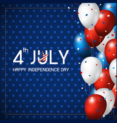 4 july happy independence day design vector image vector image