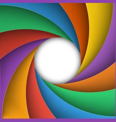 Varicoloured shutter aperture vector image