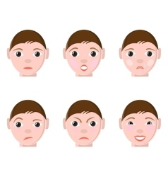 Different human emotions vector