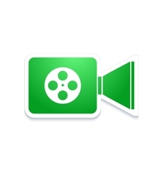 Modern video camera icon on white vector