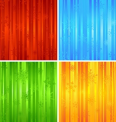 Four christmas striped backgrounds vector