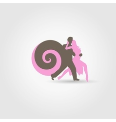 Dancing couple on white vector
