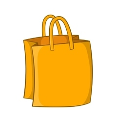 Bag with handles icon cartoon style vector