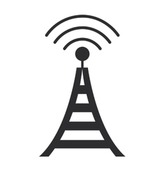 Communications antenna icon vector