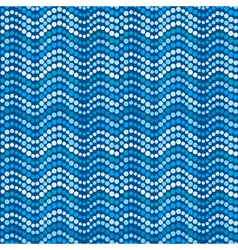 Dotted waves abstract blue dotted pattern vector