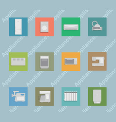 a set of icons depicting household appliances vector image