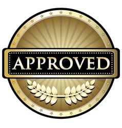 Approved Gold Label vector image vector image