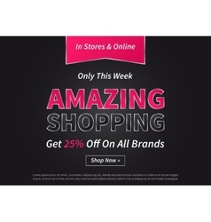 Banner Amazing Shopping on vector image vector image