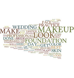 Beauty tips text background word cloud concept vector
