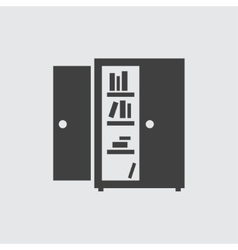 Bookcase icon vector image vector image