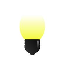 bulb lamp vector image